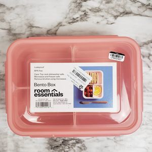 (3/$15) Bento Box 3 Compartments  Pink